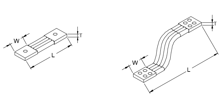 Flexible Roped Type Copper Busbar Connectors